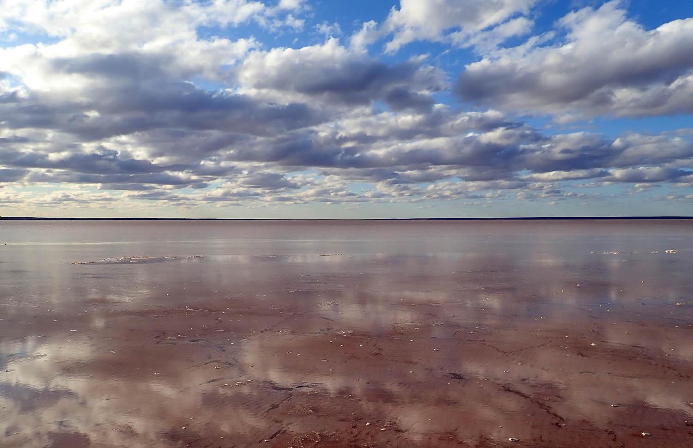 desert lake full of water